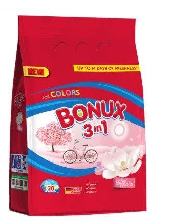 Bonux Color Pure Magnolia prací prášek, 20 praní, 1,5 kg