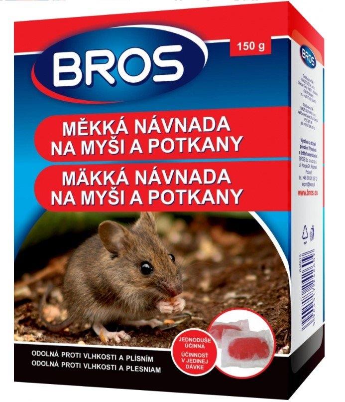 BROS měkká návnada proti myším, krysám a potkanům, 150 g