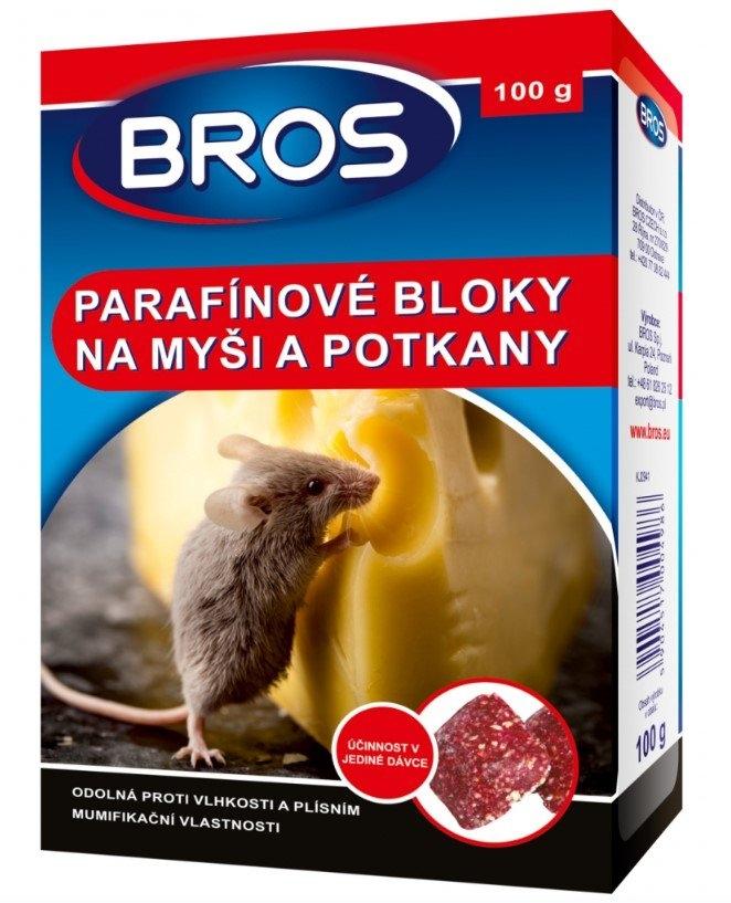 BROS parafínové bloky na myši, krysy a potkany, 100 g