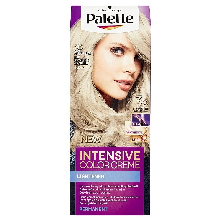 Palette Schwarzkopf Intensive Color Creme barva na vlasy Zvlášť Popelavě Plavý A10 (10-2)