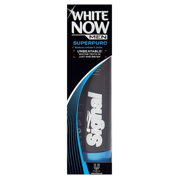 Signal White Now Men Superpure zubní pasta 75 ml