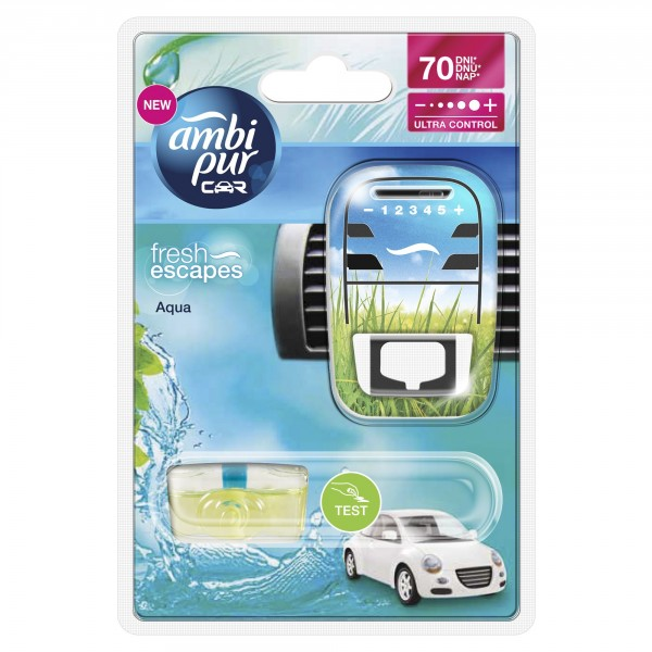 Ambi Pur Ambipur Car3 Aqua odpařovací strojek do auta Fresh Escapes 7 ml