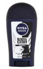 Nivea Men Black & White Invisible Original tuhý antiperspirant, 40 ml