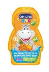 On line Kids šampon a sprchový gel exotic coctail 250 ml (žlutý)
