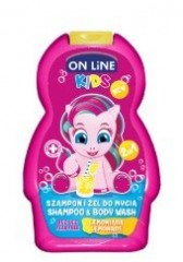 On line kids 2v1 šampón a sprchový gel NEW Limonade 250 ml