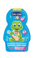 On line Kids šampon a sprchový gel bubble gum 250 ml (modrý)