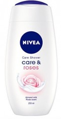 Nivea Care & Roses sprchový gel, 250 ml