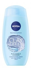 Nivea Clay Fresh Blue Agave & Lavender sprchový gel, 250 ml