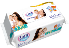 Lara Baby Wet Towel Easy Care Baby Premium Soft 120ks