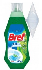 Bref WC Fresh Pearls Pine, gelový WC blok, 360 ml