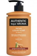 Authentic toya Aroma ginger & lemongrass tekuté mýdlo, 400 ml