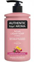 Authentic toya Aroma cranberries & nectarine tekuté mýdlo, 400 ml