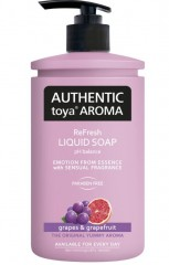 Authentic toya Aroma grapes & grapefruit tekuté mýdlo, 400 ml