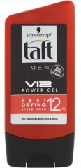 Taft Men V12 Power Gel gel na vlasy, 150 ml