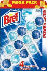 Bref Power Aktiv WC blok, Ocean 3 x 50 g